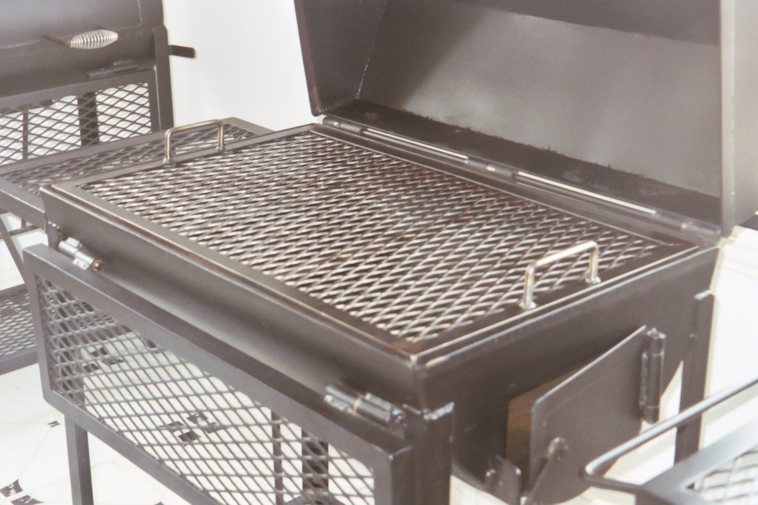 Jj 20x30 open fajita grill pits by jj for Home made product for sale